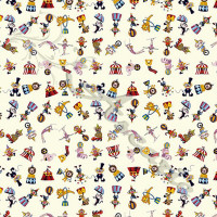 At the Circus Fabric 100% Cotton