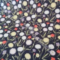 Wild Flowers on Navy  100% Cotton
