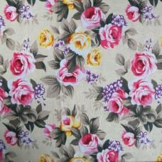 2.70m Flower on Cream Background 100% Cotton