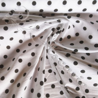Black Pea Spot on white  100% Cotton