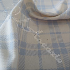 .95cm Blue Check on Cream Cotton Drill