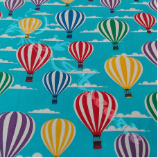 Hot Air Balloons from Rose & Hubble 100% Cotton Poplin