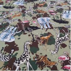 Animals on Safari 100% Cotton Poplin