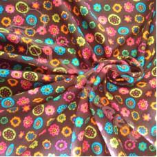Spotty Flowers Stretch Fabric