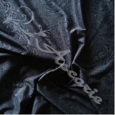 Dark Grey Patterned Jersey Dress Fabric