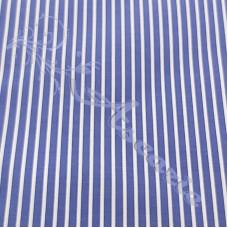 Blue & White Stripe 100% Cotton