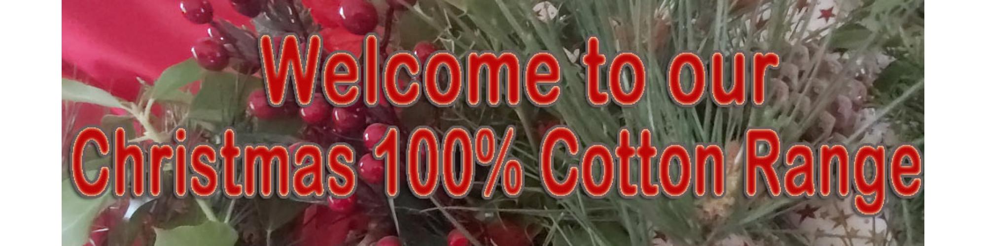 100% xmas cotton