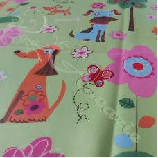 "2.1metres 60"" Children's on Green Blackout Lining"