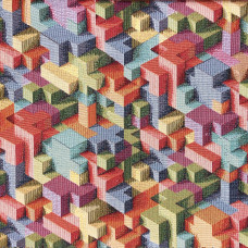 New World 3D Blocks Tapestry