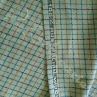 1.7mtrs Designer Wool Plaid Pale Green Background 100% Fabric