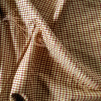 1.8mtrs Designer Wool Plaid Biscuit Background 100% Fabric