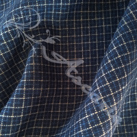 1.7mtrs Designer Wool Plaid Dark Blue Background 100% Fabric