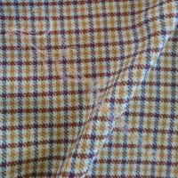 1.8mtrs Designer Wool Plaid Yellow background 100% Fabric