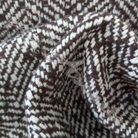 Brown Herringbone Wool Mix Fabric