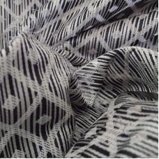 Grey Diamonds with dots Curtaining