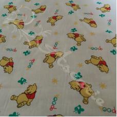 Winnie Pooh Bear on Cream PolyCotton
