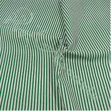 Narrow Green Coloured Stripe Polycotton