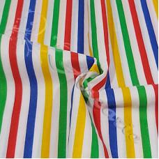 Stripe Multi Coloured Polycotton