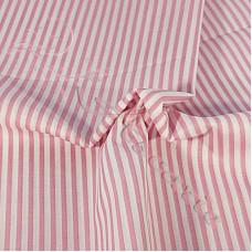 Narrow Stripe Pink Coloured Polycotton