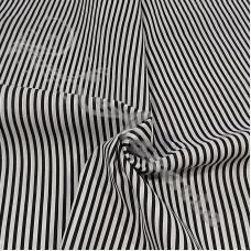 Narrow Black Stripe Polycotton
