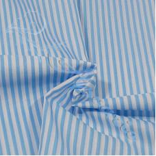 Narrow  Baby Blue Stripe  Polycotton