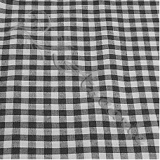 "1/4"" Black Gingham Polycotton"