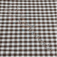 "1/4"" Brown Gingham Polycotton"