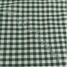 "1/4"" Bottle Green Gingham Polycotton"