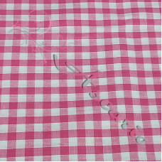 "1/4"" Cerise Gingham Polycotton"