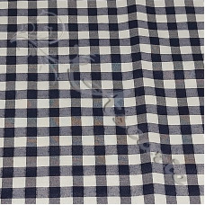 "1/4"" Navy Gingham Polycotton"