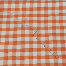 "1/4"" Orange Gingham Polycotton"