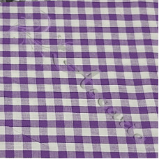 "1/4"" Purple Gingham Polycotton Purple"