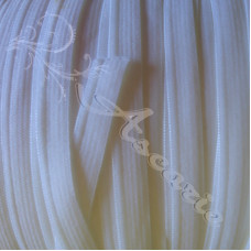 2 metres  x 10mm Flat White Elastic