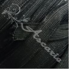 3metres  x 12mm Flat Black Elastic