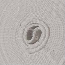 2m x 20mm White Flat  Elastic