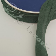 25mm Dark Green Cotton Bias Binding