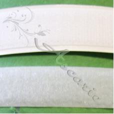 20mm White Hook & Loop Sew on Velcro