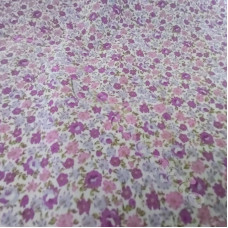 Ditsy Lilac & Pink flowers  poly-cotton