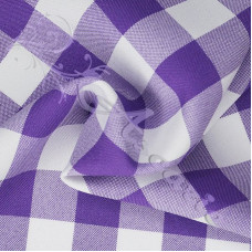 "Purple 1"" Gingham 100% Polyester"