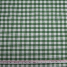".30cm of 1/4"" Gingham Polycotton bottle Green"