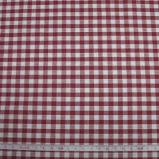 "1/8"" Gingham Polycotton Red"