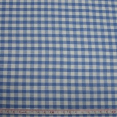 """1/4"""" Gingham Polycotton turquoise"""