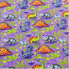 Halloween Monster Dinosaurs Polycotton