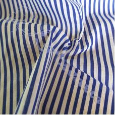 Narrow Royal Blue Coloured Stripe Polycotton