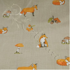 Freddy Fox on Biscuit  PolyCotton