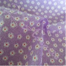 Ditsy Spot Flowers on Lilac  Polycotton