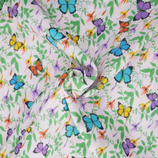 .55cm Butterfly on pink Polycotton